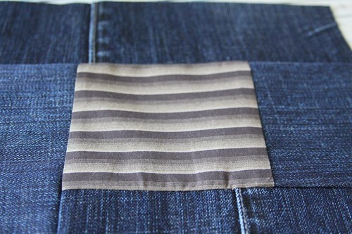 denim quilt, jean quilt, recycled quilt, recycled quilt from jeans, how to make a quilt from jeans 6