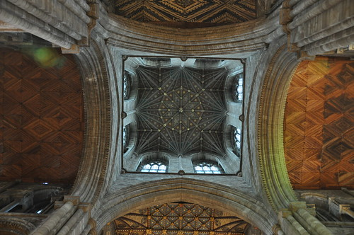The tower ceiling