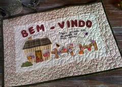 PaN BeM-ViNdO (DoNa BoRbOlEtA. pAtCh) Tags: handmade application bemvindo pan donaborboletapatchwork denyfonseca