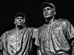 091/365 - April 1, 2011 - Boys of Summer (Shane Woodall) Tags: blackandwhite sculpture newyork statue brooklyn baseball april 365 dodgers 2011 project365 silverefexpro olympusepl1 3652011 shanewoodallphotography