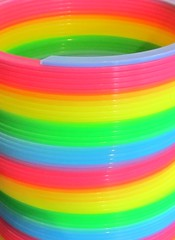 Colorful Slinky (SA_Steve) Tags: color colors toy rainbow colorful bright plastic slinky libertysciencecenter jerseycitynj