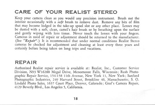 realist stereo camera instruction manual 18