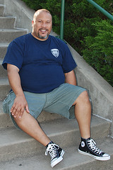 Wearing my Black Chucks (Mike WMB) Tags: bear goatee converse chucks