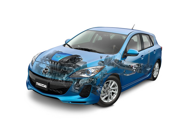 2012 Mazda3 with SKYACTIV skeleton image (US)