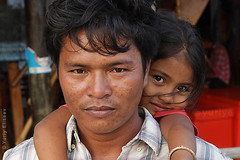 Father and daughter (yuriye) Tags: koh rong island cambodia portrait eyes man girl father daughter khmer face look yuriye дочь отец камбоджа people child head