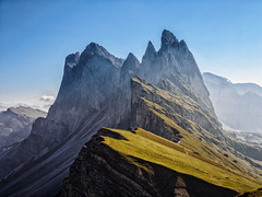 Steep and steeper in the Morning... (Ody on the mount) Tags: berge dolomiten fermeda fototour gipfel odles seceda sdtirol urlaub santacristinavalgardena trentinoaltoadige italien it redmatrix universeofphotography