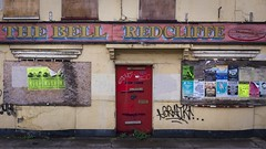 The Bell Redcliffe Bristol (brwestfc) Tags: bristol pub public house derelict unused old decay posters door red courage