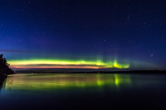 Northern Lights over lake Toisvesi (ArtDvU) Tags: northern lights aurora borealis finland virrat toisvesi lake lakescape landscape canon eos 7d mark ii sky night nightscape nightsky reflection stars wideangle 1020 evening fall autumn auroras pirkanmaa