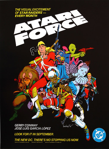 DC Comics promotional poster - Atari Force - 1983