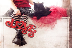 {LOVE} (VictoriaScreams) Tags: red love blackcat heart iloveyou valentinesday redandblack loveandmonsters