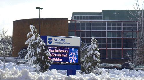 Snowstorm blankets NASA Goddard