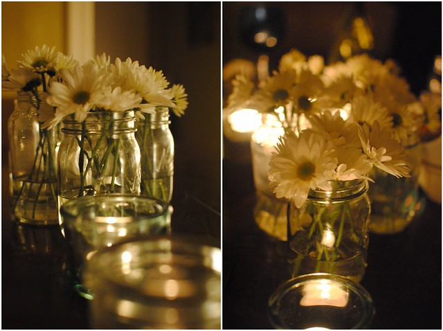 daisies & candles