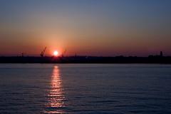 (divineseye) Tags: sunset water liverpool river birkenhead rivermersey nikond40 cammellairdshipyards
