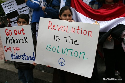 New revolutionaries at Egypt solidarity protest in San Francisco
