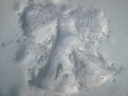 I made a snow angel!
