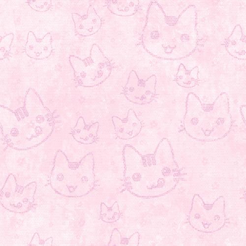 Fondo rosa con gatitos dibujados