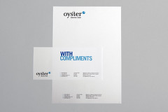 Letterhead and compliment slip (Oyster Marketing & Design) Tags: typography businesscards emsworth designprint oysterdesign businesssationery