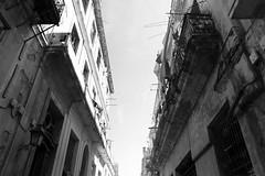 Looking up (jen ) Tags: blackandwhite apartments havana cuba communism balconies lahabana