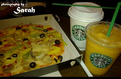 ! (  /    (  (Sarah Altamimi) Tags: food for pizza starbucks pasion