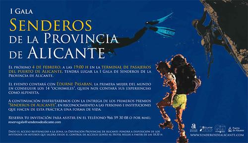 I Gala Senderos de Alicante