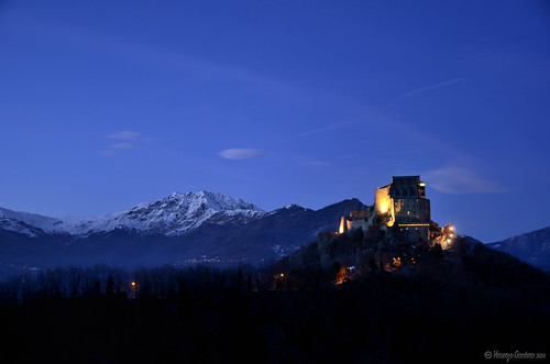 Sacra di San Michele at night