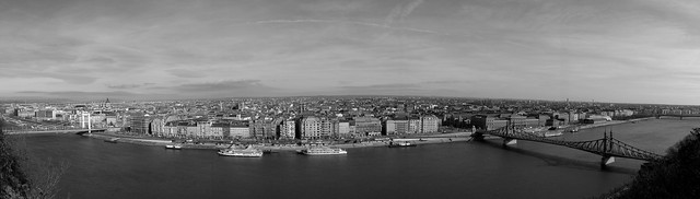 Budapest panoráma a Gellért hegyről
