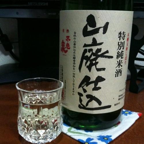 今日の酒。不老泉、山廃、特準、三年熟成