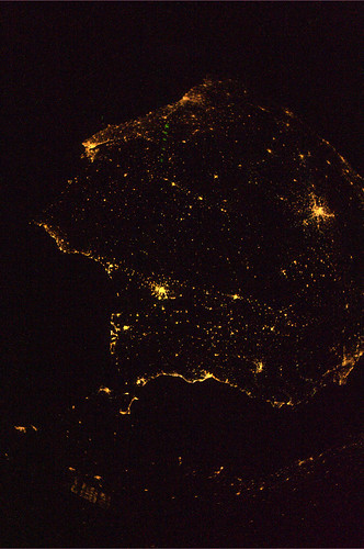 Spain and Portugal by night