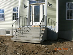 stucco steps on sonotubes