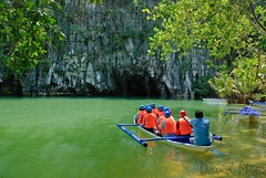 Sabang, Philippines - Underground River Entrance (GlobeTrotter 2000) Tags: park sailboat river underground puerto island boat philippines entrance unesco national sail cave princesa subterranean sabang palawan bangka