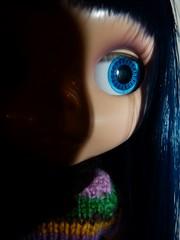 6/52WB ~ Keiko in shadow (Samantha (Sam)) Tags: blue closeup ab blythe ebl 652 asianbutterfly 52weeksofblythe megipupu 52wb