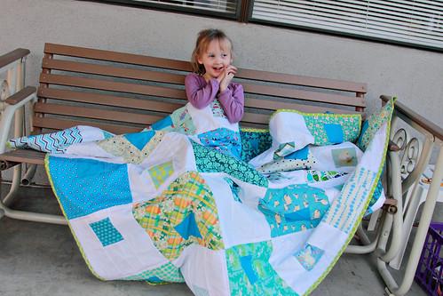 Gwen's Blue quilt