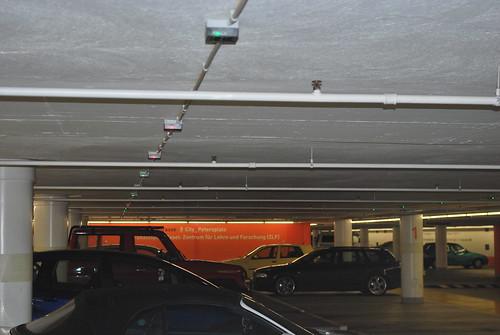 Les lumières du parking