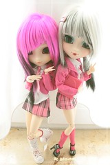 Pullip Tiphona Custom & Pullip Ludmila (Kim-kun) Tags: world doll innocent akira pullip custom pullips obitsubody innocentword rewiged tiphona pulliptiphona pullipludmilla tamalynn