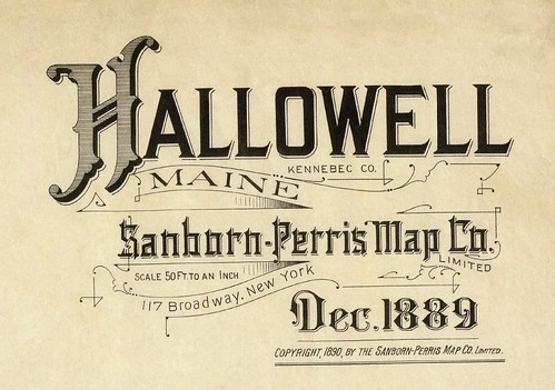 Hallowell, Maine December 1889