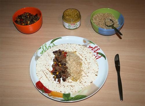 31 - Mit Reis belegen