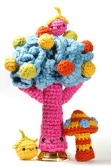 tree and friends (callie callie jump jump) Tags: color tree smile burlington vermont berries handmade crochet craft plush kawaii fiber amigurumi urbanfarmgirl erinnsimon