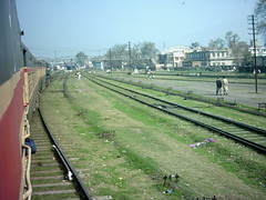 Train changing  tracks (karachicity) Tags: pakistan train tracks railway running punjab
