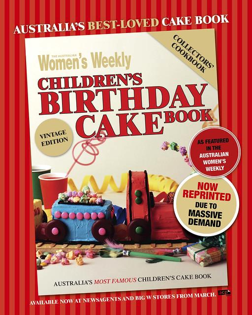Reprinted Birthday Cake Book