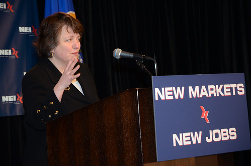 US Deputy Secretary of Agriculture Kathleen Merrigan represents USDA at the 'New Markets, New Jobs' conference held at the University of Minnesota in Minneapolis.
