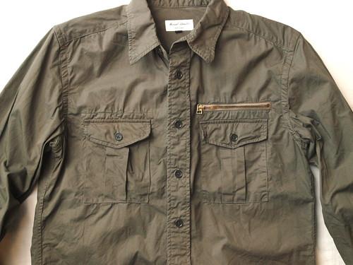 Manual Alphabet / Over Dyed Twill Safari Shirt