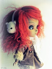 April (miss_skittlekitty) Tags: girls ginger doll mohair pullip limitededition junplanning rewigged anotheralice grooveinc kittyearmuffs