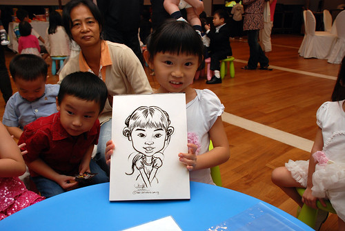 caricatrue live sketching for Arthur & Maria wedding dinner - 4
