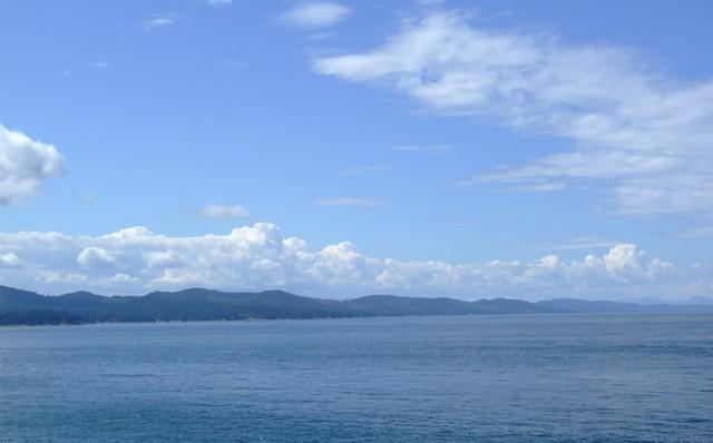 zicht op Vancouver Island