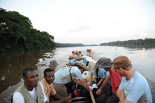 Expédition Sangha 2010 : trajet sur le Sangha