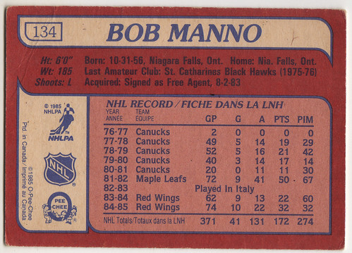 Now with - Bob Manno back