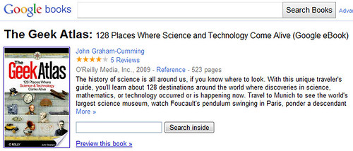 The Geek Atlas appearing in Google Books by Si1very