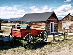 Way out West (saxonfenken) Tags: old building wagon colorado antique wheels shed thumbsup buckskin 6962 gamewinner friendlychallenge thechallengefactory yourock1stplace storybookwinner pregamewinner 6962trans