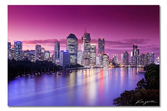 After the Floods ([ Kane ]) Tags: city blue water ferry reflections river photography cityscape purple mask dusk brisbane qld queensland kane brisbanecity gledhill brisbanecityatnight kanegledhill