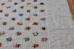twinkling stars border (Lynn Carson Harris) Tags: stars solids quilted patchwork liberated pieced freemotion freepieced twinklingstars